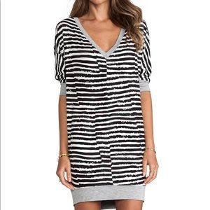 Trina Turk Black White Stripe Amorosa Tunic Dress